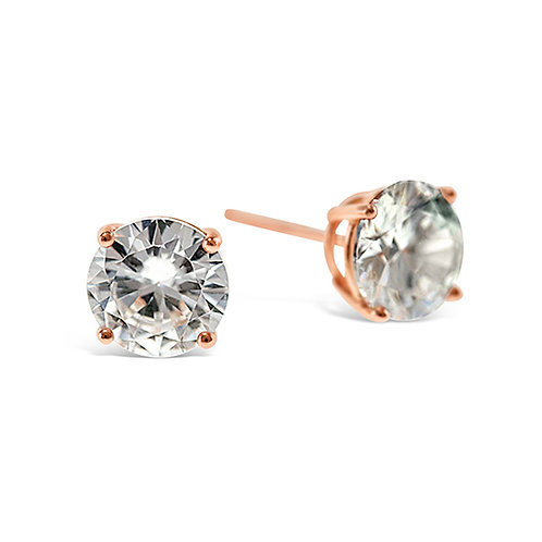 Bitter Sweet Rosegold Plated Sterling Silver Cubic Zirconia 3mm Studs 126017