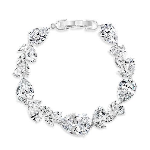 Bitter Sweet Bridal Silver Cubic Zirconia Bracelet 143592