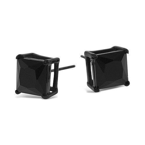 Bitter Sweet Jewelery Stainless Steel Black Cubic Zirconia Earrings 142426