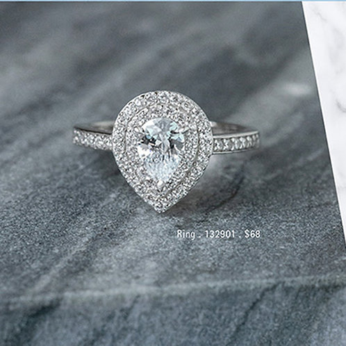 Bitter Sweet Sterling Silver Cubic Zirconia Ring 132901