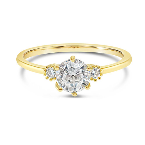 Bitter Sweet Fashion Gold Cubic Zirconia Ring 141877