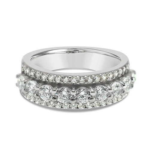 Bitter Sweet Sterling Silver Cubic Zirconia Ring 132222