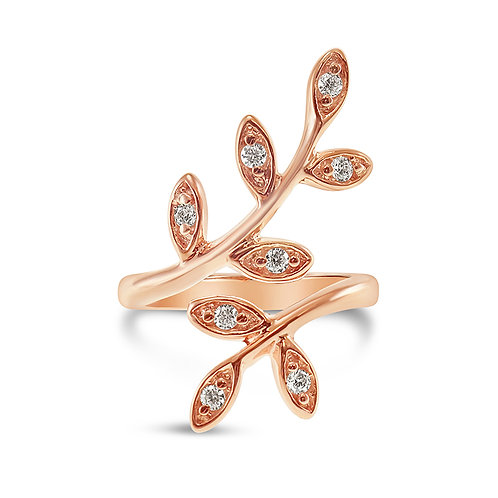 Rose Gold Plated Sterling Silver Cubic Zirconia Ring 132984