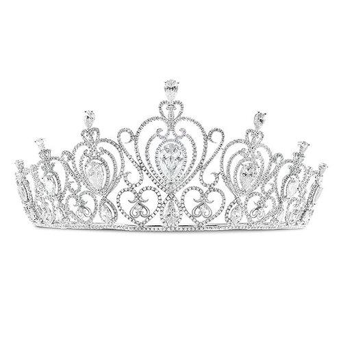 Bridal Silver Cubic Zirconia Tiara 132107-10125247