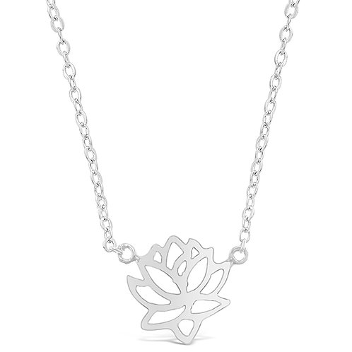 Bitter Sweet Sterling Silver Lotus Necklace 143362