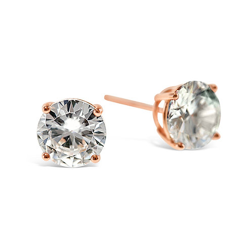 Bitter Sweet Rosegold Plated Sterling Silver Cubic Zirconia 5mm Studs 126018
