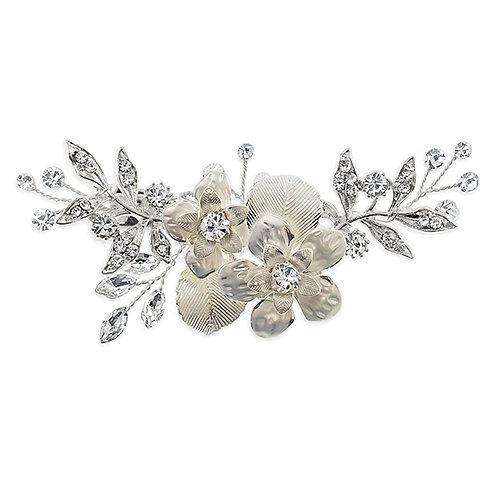 Bridal Silver Flower Hair Clip 129584