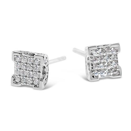 Bitter Sweet Sterling Silver Cubic Zirconia Earrings 142510