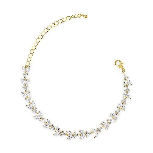 Bridal Gold Cubic Zirconia Bracelet 137425