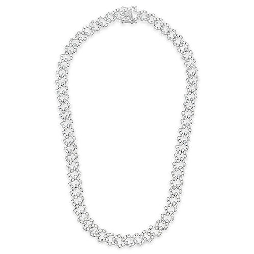 Bitter Sweet Cubic Zirconia Cuban Link Necklace 143084