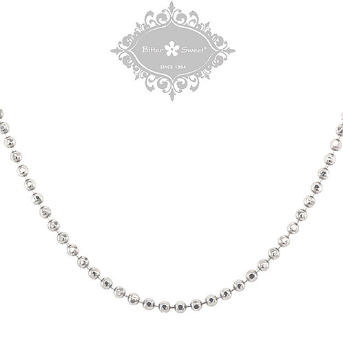 Sterling Silver Bead Chain 110910