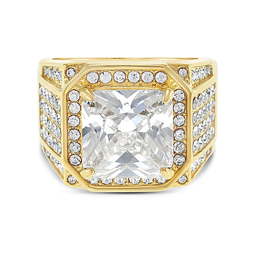 Bitter Sweet Men's Stainless Steel Cubic Zirconia Ring 143031