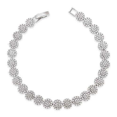 Bitter Sweet Bridal Silver Cubic Zirconia Bracelet 137427