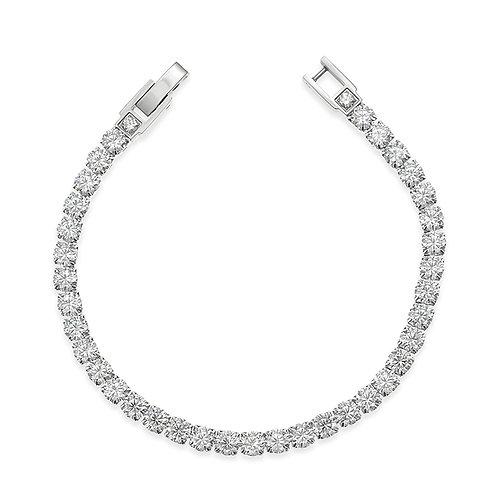 Bitter Sweet Jewelery Men's Stainless Steel Silver Cubic Zirconia Bracelet 142422
