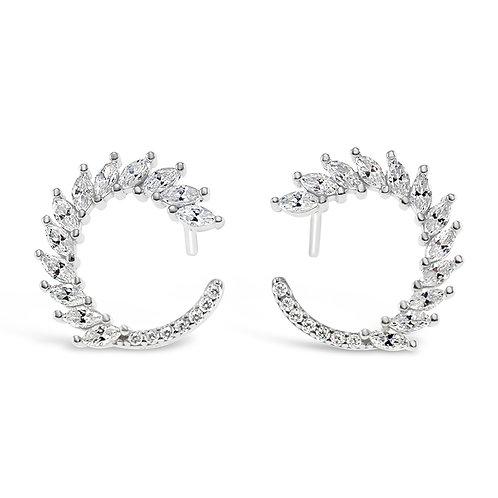 Bitter Sweet Sterling Silver Cubic Zirconia Earrings 132617