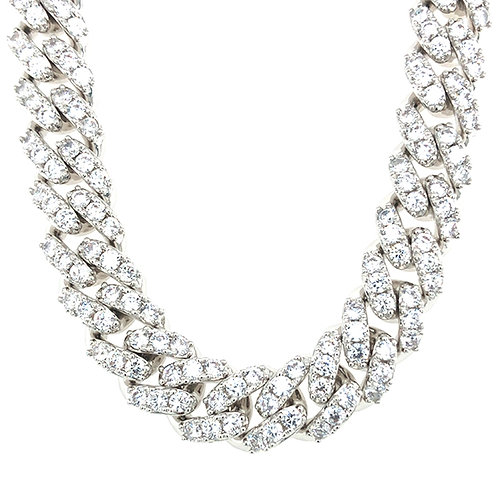 "Bitter Sweet Cubic Zirconia Cuban Link 20"" Inches Necklace 142850"