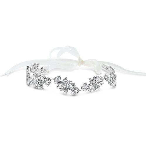 Bridal Silver Vintage Crystal Headband 142202