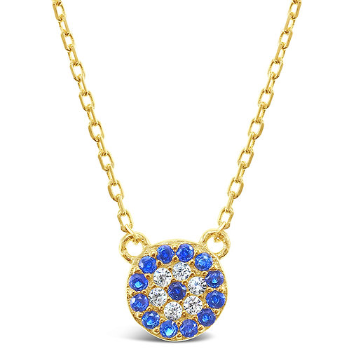 Bitter Sweet Gold Plated Sterling Silver Cubic Zirconia Evil Eye Necklace 143367