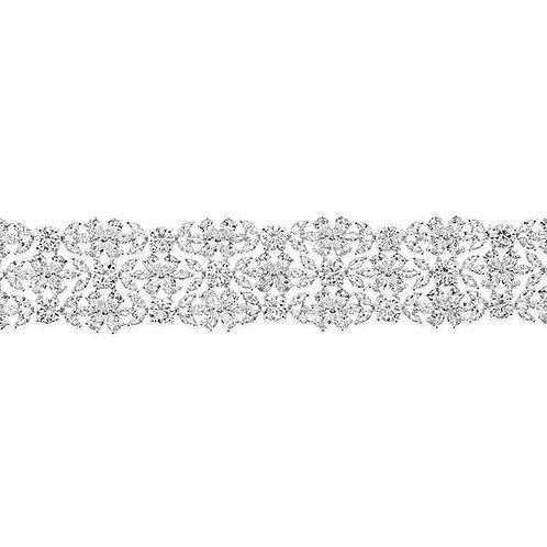 Bridal Silver Cubic Zirconia Bracelet 137431