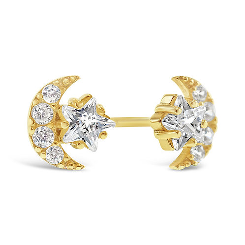 Bitter Sweet Gold Plated Sterling Silver Cubic Zirconia Earrings 141762