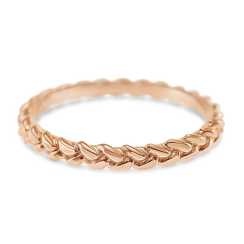 Rose Gold Plated Sterling Silver Ring 132085