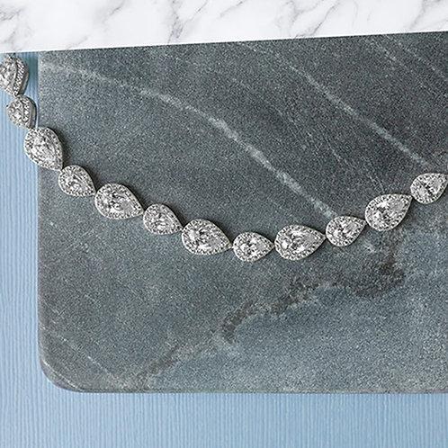 Bitter Sweet Sterling Silver Cubic Zirconia Bracelet 132841
