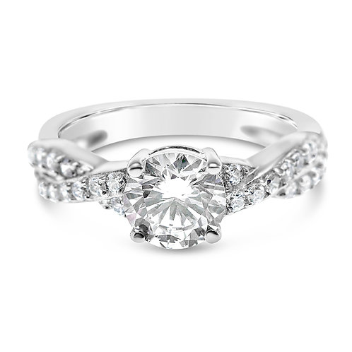 Bitter Sweet Sterling Silver Cubic Zirconia Ring 141668