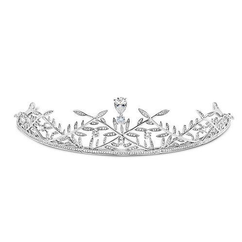 Bridal Silver Cubic Zirconia Tiara 132111-10125251