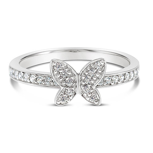 Bitter Sweet Sterling Silver Cubic Zirconia Ring 118994