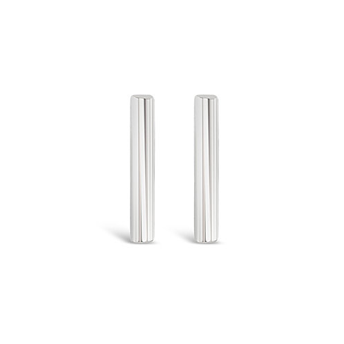 Bitter Sweet Sterling Silver Bar Earrings 143301