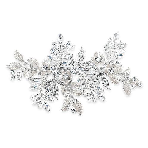 Bridal Silver Flower Hair Clip 142071