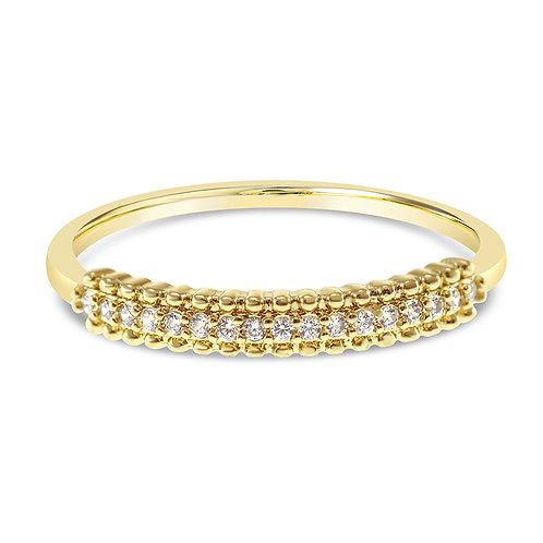 Bitter Sweet Fashion Gold Cubic Zirconia Ring 141903