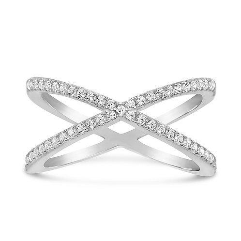Sterling Silver Cubic Zirconia Ring 131471