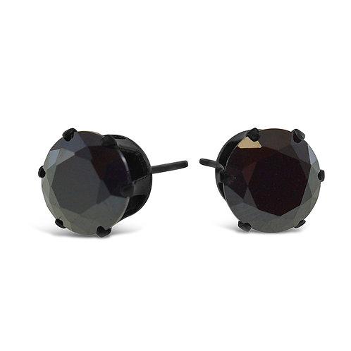 Bitter Sweet Jewelery Stainless Steel Black Cubic Zirconia Earrings 142425