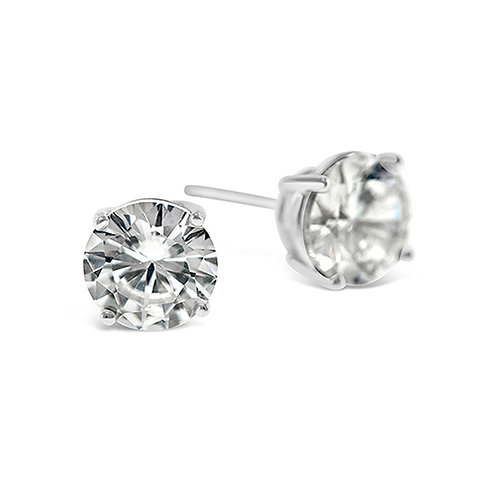 Bitter Sweet Sterling Silver Cubic Zirconia Round 3mm Studs 001454