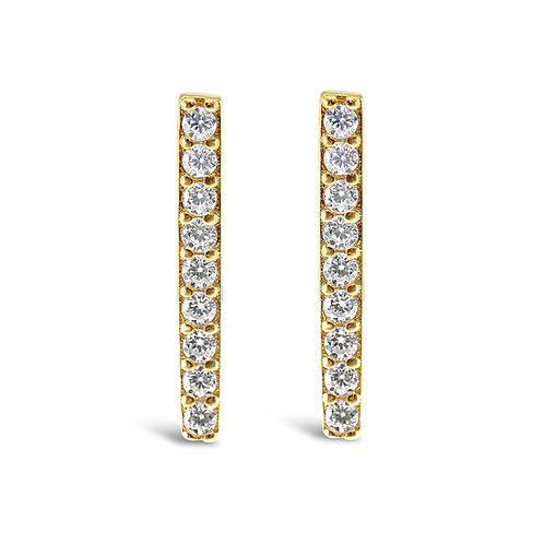 Bitter Sweet Gold Plated Sterling Silver Cubic Zirconia Earrings 140102