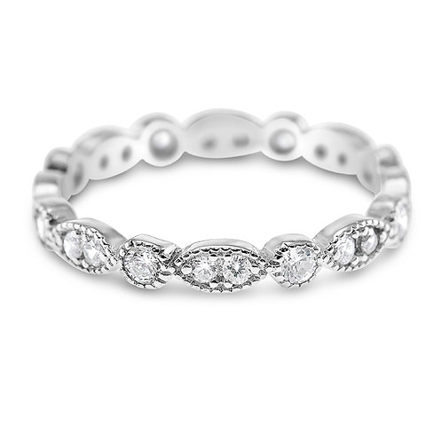 Sterling Silver Cubic Zirconia Ring 141543