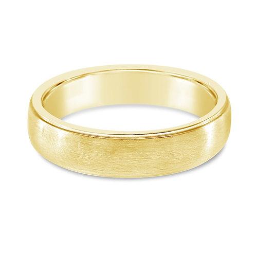Bitter Sweet Jewelery Men's Stainless Steel Gold Plain Ring 142447