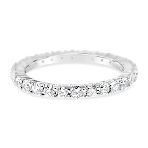 Bitter Sweet Sterling Silver Cubic Zirconia Ring 117094
