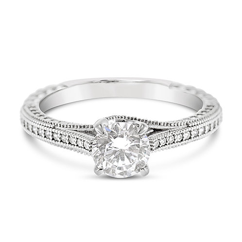 Sterling Silver Micro Pave Cubic Zirconia Ring 117732