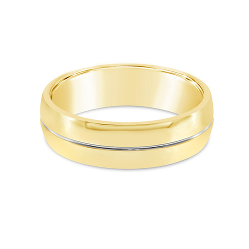 Bitter Sweet Jewelery Men's Stainless Steel Gold Plain Ring 142452