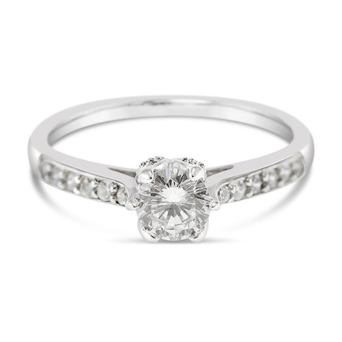 Bitter Sweet Sterling Silver Cubic Zirconia Ring 124408