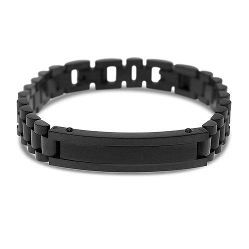 Bitter Sweet Jewellery Men's Black Stainless Steel ID Bracelet 142240