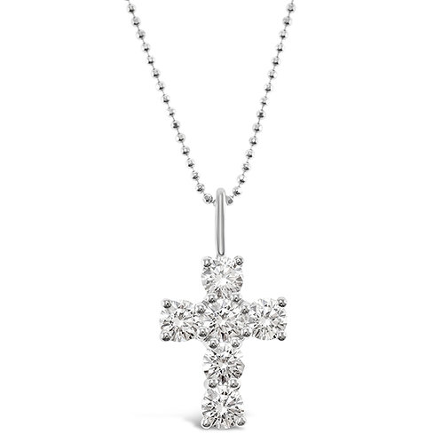 Bitter Sweet Sterling Silver Cubic Zirconia Cross Necklace 141132