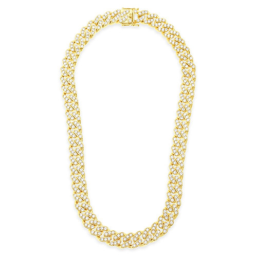 Bitter Sweet Cubic Zirconia Cuban Link Necklace 143103