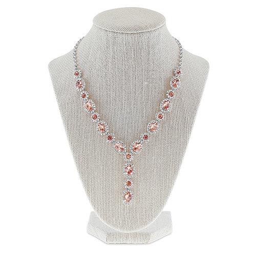 Fashion Rhinestones Necklace & Earrings Set