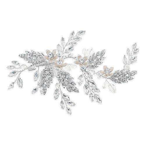 Bridal Silver leaf Hair Clip142069
