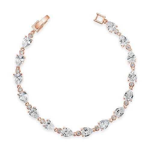 Bridial Cubic Zirconia Tear Drop Bracelet 131638-10124403