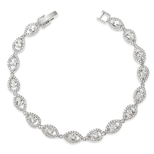 Bitter Sweet Bridal Silver Cubic Zirconia Bracelet 137430