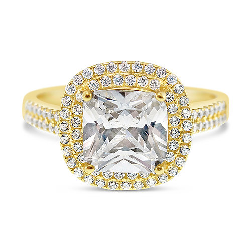Gold Plated Cubic Zirconia Ring 131880